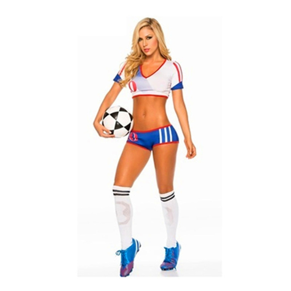 4. Cheerleading Uniform for Womens Sexy Football Short Sleeve Shirt Sets Stage Uniform Cosplay Party Halloween –